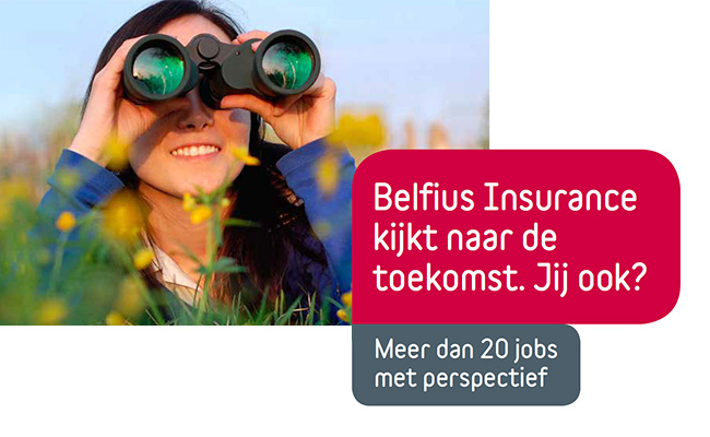 Belfius Insurance adverteert in Metro